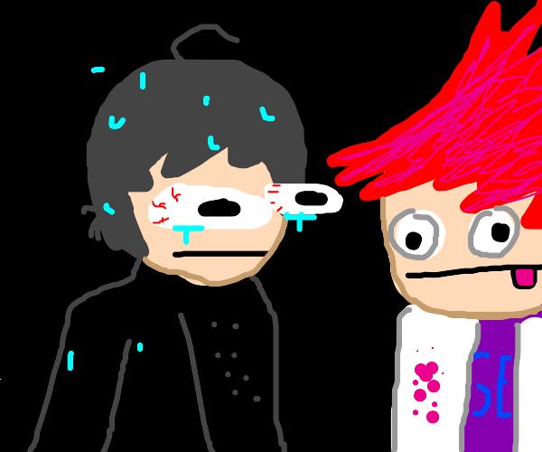 sweating Shuichi loves Kaito (Danganronpa V3)