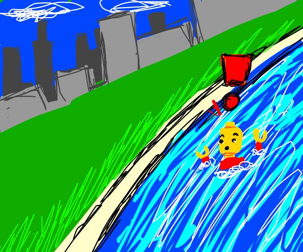 A MAN HAS FALLEN INTO THE RIVER