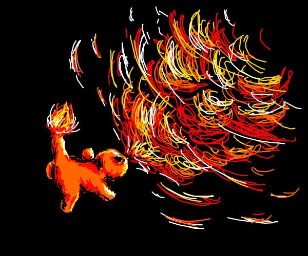 Charmander uses Flamethrower!