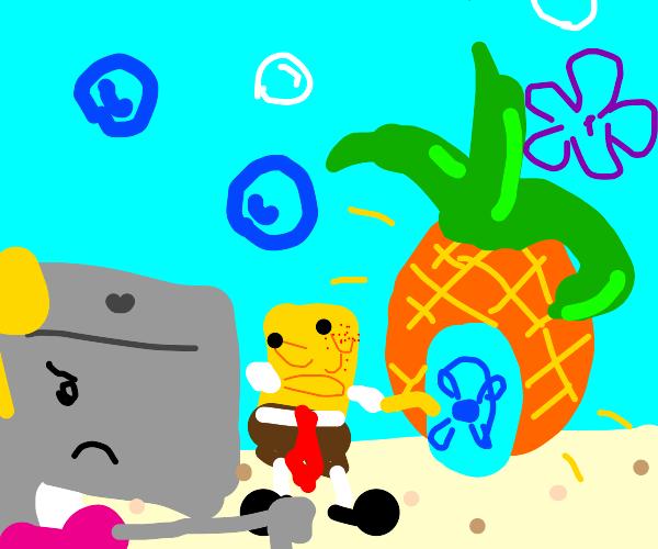 Girl rejects spongebob's house