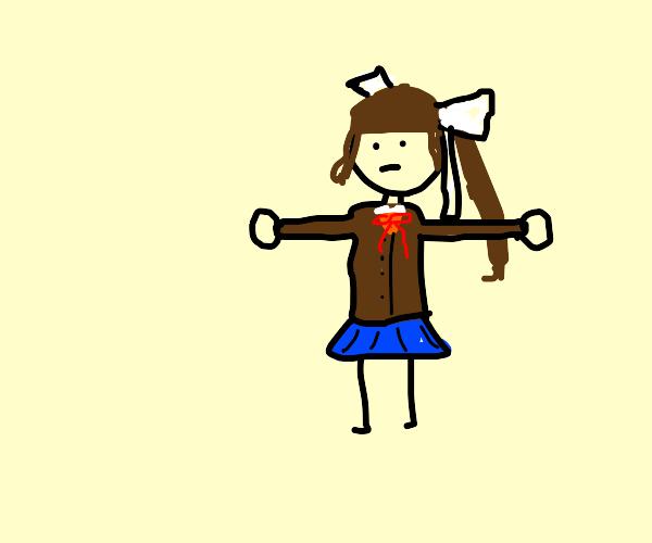 Monika T-Posing.