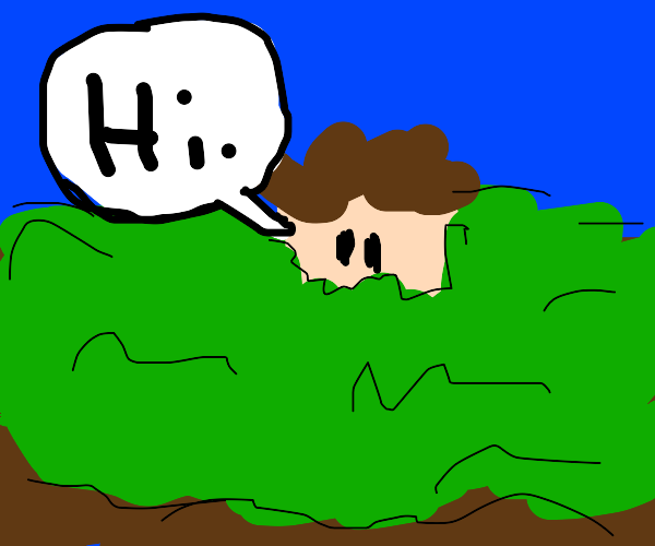 buried head saying hi