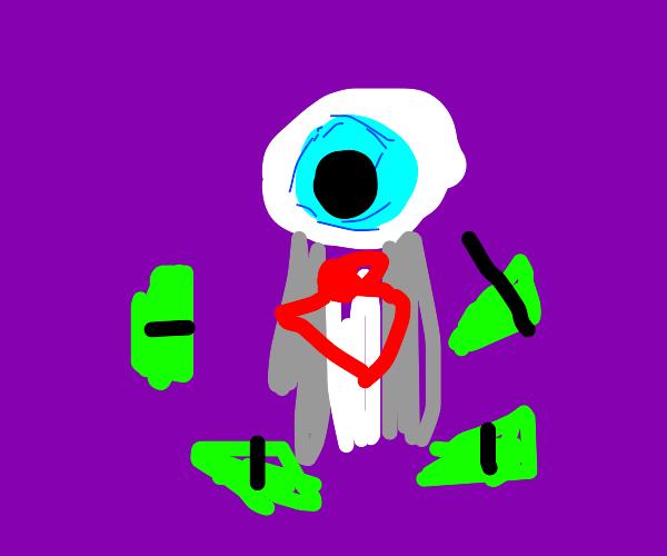 nicely dressed eye has money