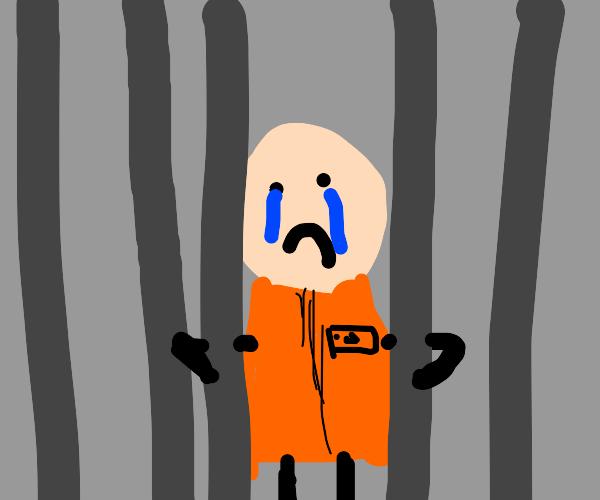 sad inmate