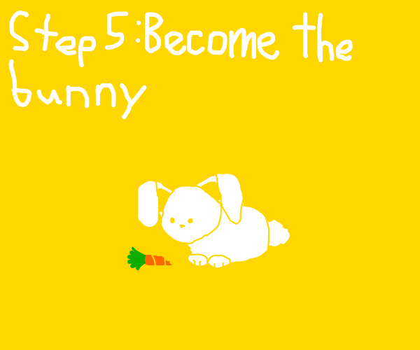 Step 4 - Give the bunny a carrot and pet it