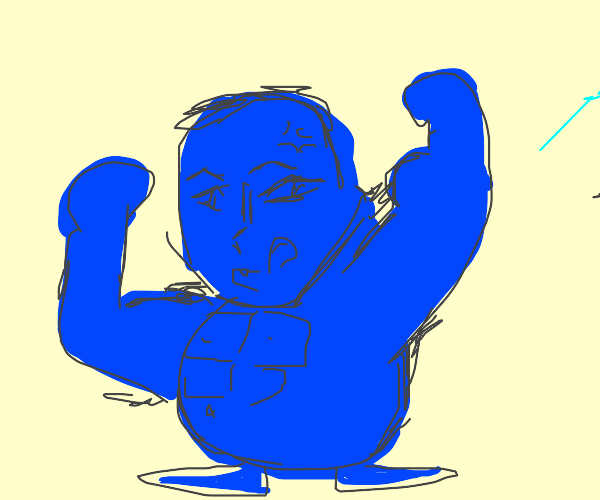 Very strong blue bean boy