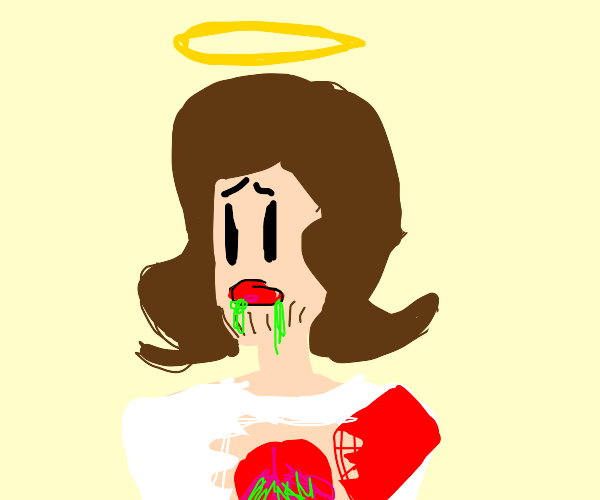 jesus with radioactive lungs and halo