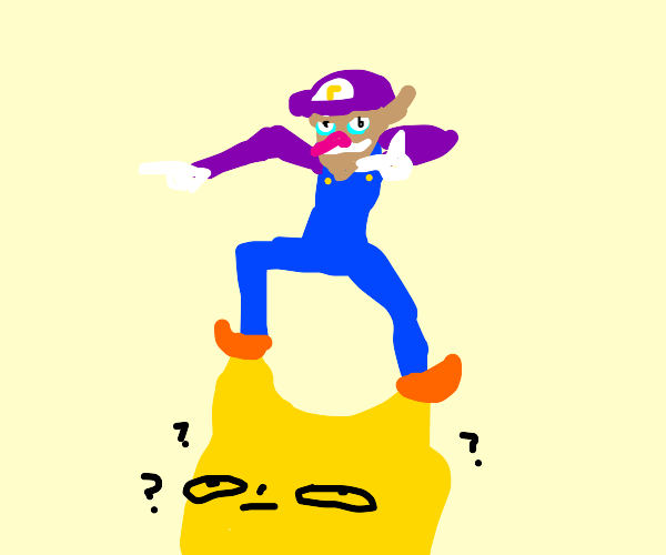 waluigi is ontop of the world