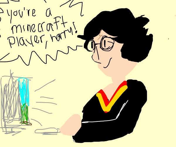 Harry Potter plays Minecraft