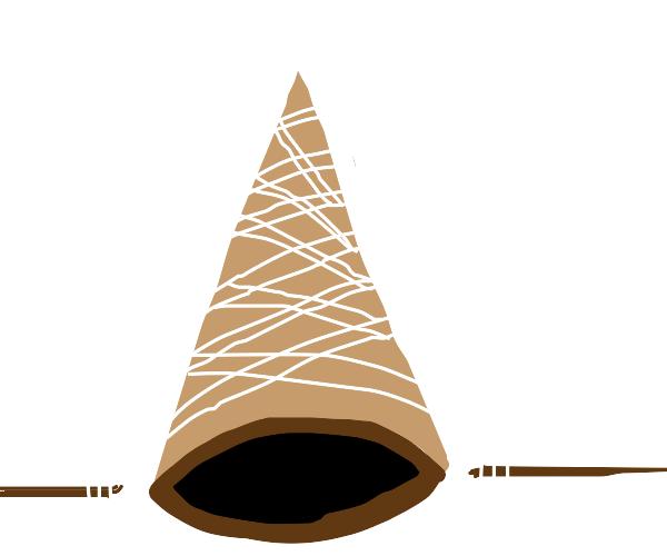 upside down ice cream cone
