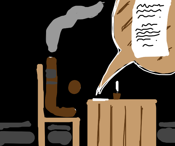 cigar writing a letter