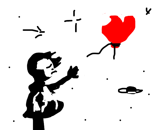 That one Banksy of the girl/balloon, in space