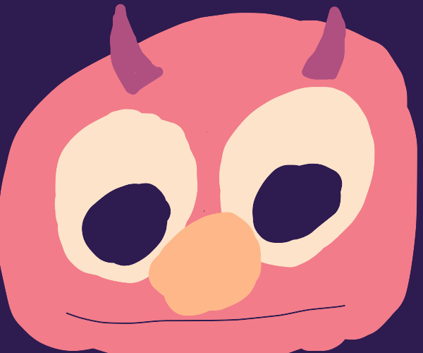 Demonic Elmo (Drawn by an apologetic person)