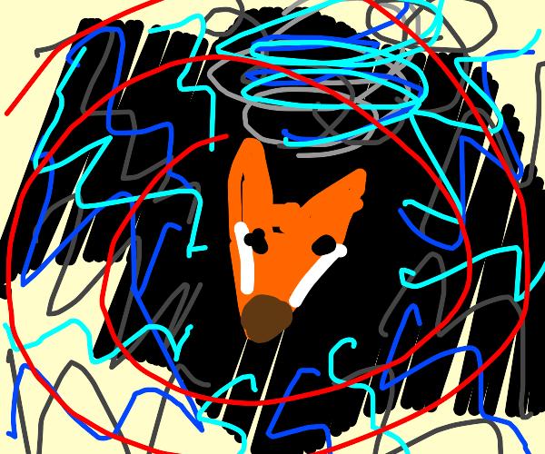 Depressed fox