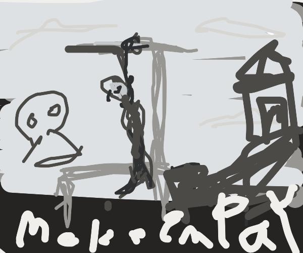 lynching someone