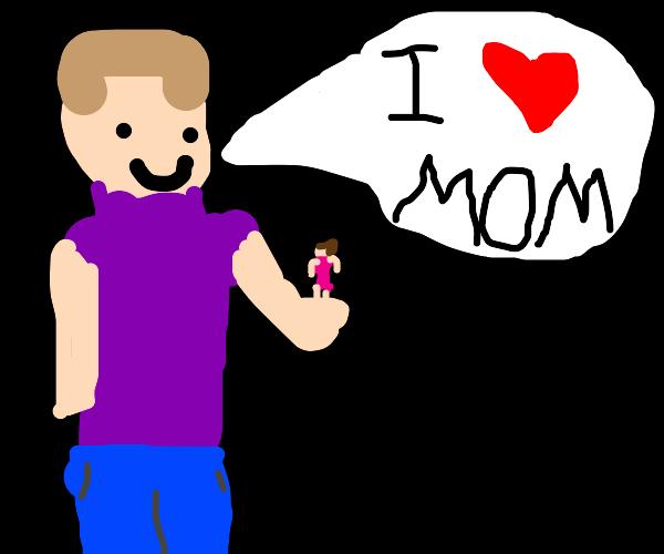 Attractive microscopic mom