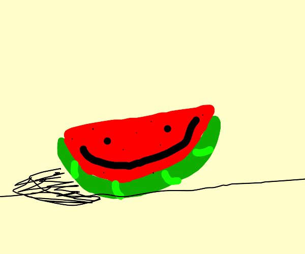 happy half watermelon