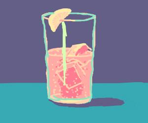 carbonated pink lemonade