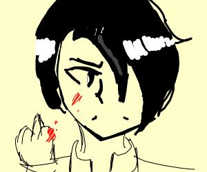 person cut finger off