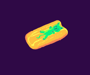 Hot dog cat?
