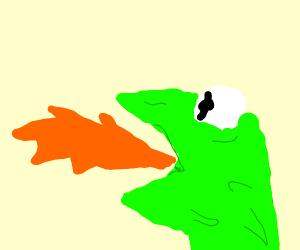 Fire breathing Kermit (Kragon)