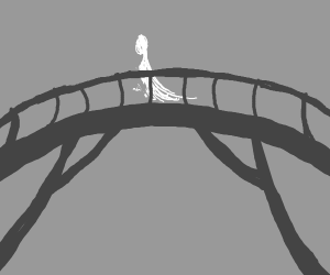 Spirit crossing the bridge of transcendence