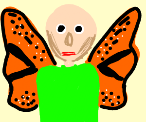 Baldi is now a freaking butterfly
