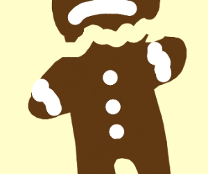 Decapitated gingerbread man