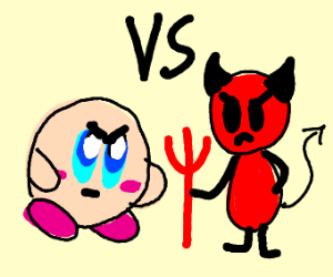 Kiby vs Satan