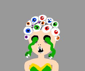 Medusa but with eye hair instead