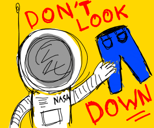 astronot wearing pants