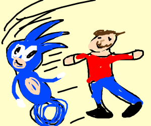 chasing sonic the hedgehog