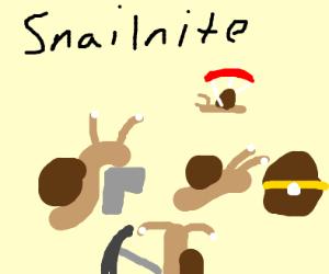 Battle royale: snail style