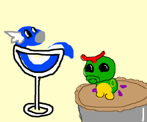 Dratini Martini with a side of Caterpie Pie