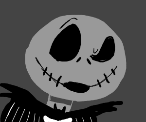 Jack Skellington with the face of awe