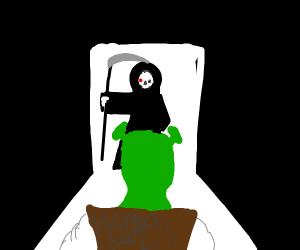 The grim reaper comes for shrek