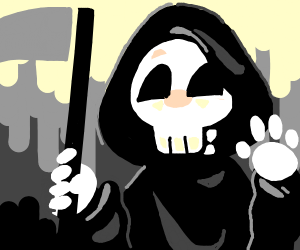 the grim reaper is a jolly boi