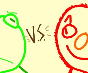 Kermit Vs Elmo, the epic showdown