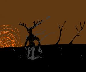 charred man deer