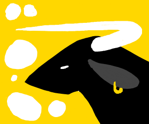Bull with a gold earring