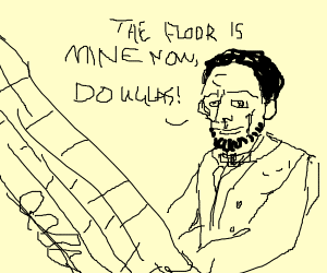 abraham lincoln swiping the floor