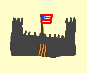 Flag in a Castle