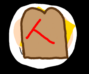Red Sandwich with a T inside of it