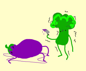 Broccoli killing friends in Shake