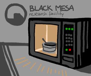 microwaving soup at black mesa