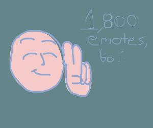 1,800 emotes! Tysm! :D