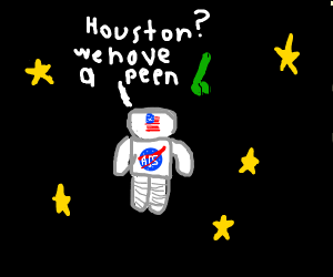 astronaut accidentally discovers space peen