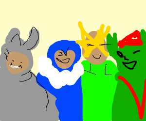 me and the boys in a drawception game