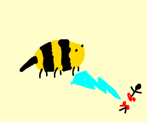 A bee is god