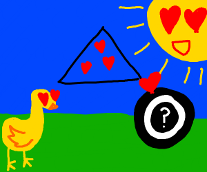 Love triangle between duck, sun, and ????